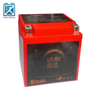 【Super Battery 勁芯】機車擋車專用鋰鐵電池6號 LF-6V(300CC以下適用) (6折)