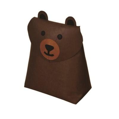 日本KOMPIS 北歐風可愛動物玩具收納箱-棕熊 (5.8折)