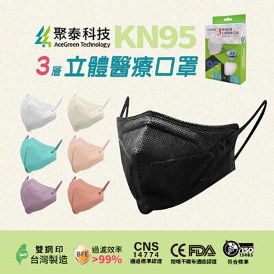 聚泰科技 KN95立體醫療口罩(3層高防護)10入/盒 (5折)