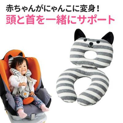 【日本COGIT】Q喵造型幼兒枕頭靠枕墊 (6.4折)
