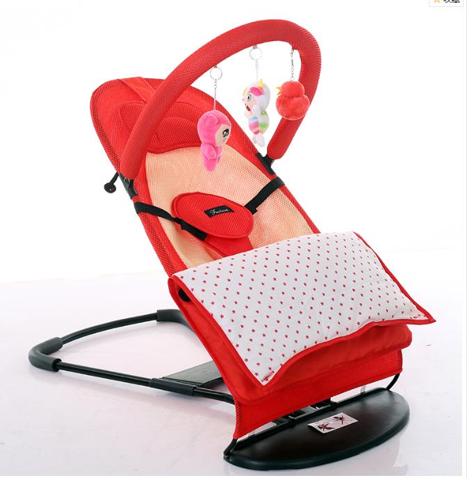 嬰兒搖搖椅安撫躺椅睡覺寶寶抖音哄娃神器帶娃哄睡新生兒童搖籃床