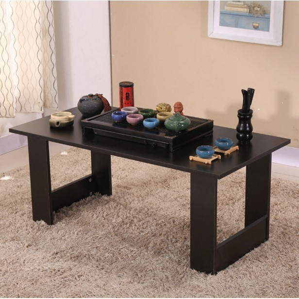 客廳小戶型茶幾簡約飄窗小桌子床上桌大號寫字簡易木桌宿舍吃飯桌 - 120*50*41下標請備註款式