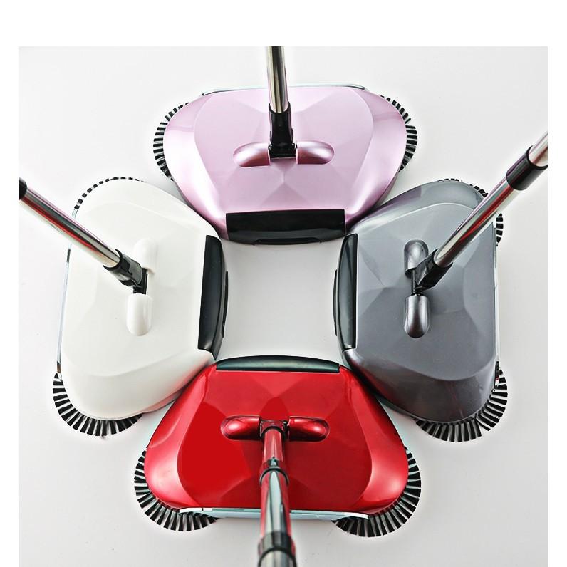 現貨一件免運掃地機手推式吸塵器家用軟掃把簸箕套裝組合魔法掃帚笤帚拖地神器懶人清潔神器