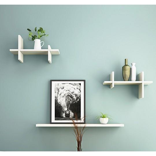 優樂美 墻上置物架 創意隔板墻壁書架 壹字擱板 創意井子架 客廳隔板 書房擱板