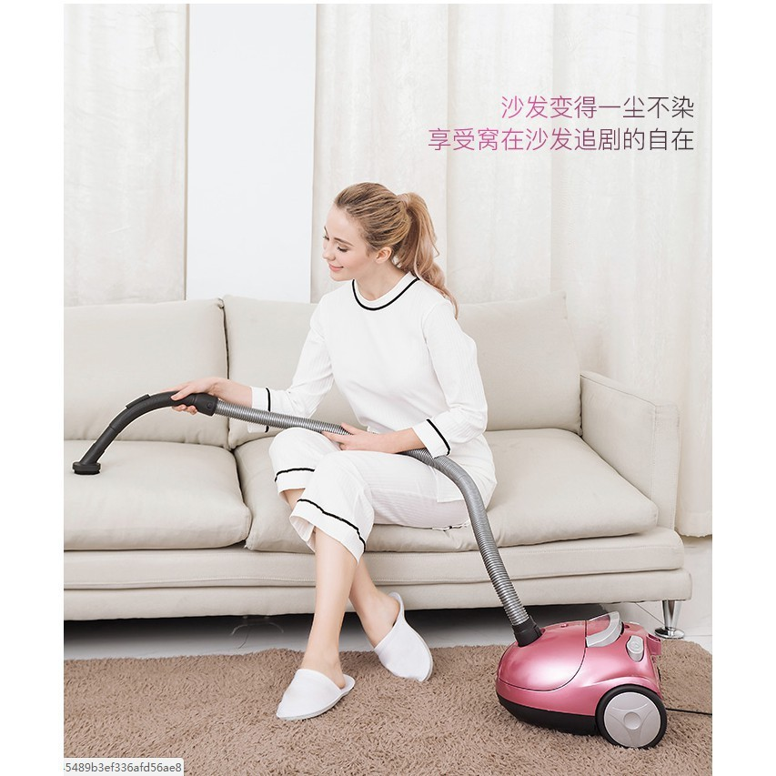 2018新款吸塵器家用手持式超靜音迷你強力除螨地毯大功率小型吸塵機 - 櫻花粉標準版