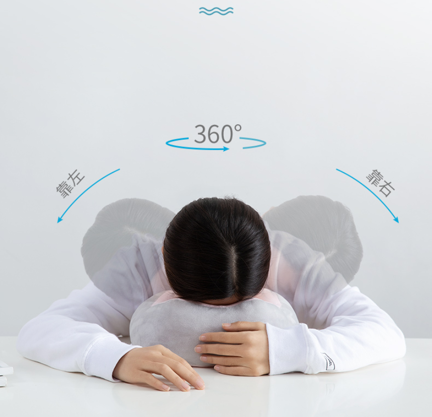 u型按摩枕頭便攜護頸椎旅行坐車飛機脖枕午睡小神器脖子靠枕u形枕
