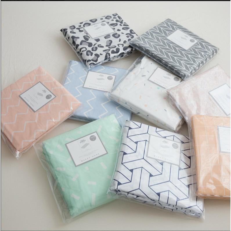 免運時尚北歐風格純棉床笠單件全棉1.8m床罩保護套防塵罩1.5m1.2m米棉質床套 - 200cm*