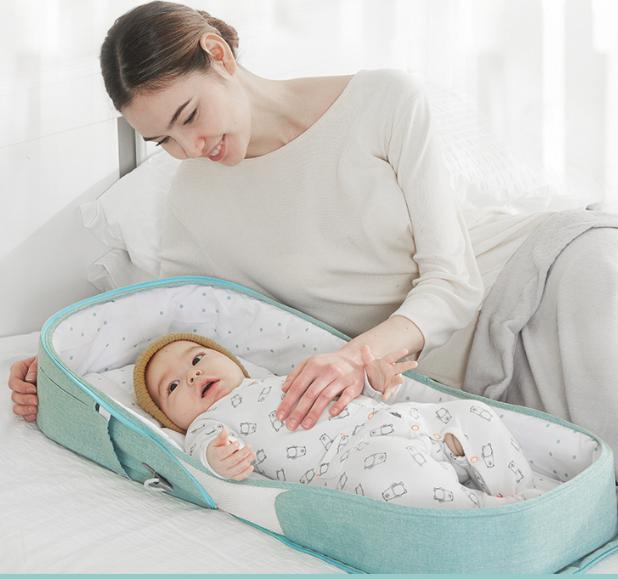 便攜式床中床寶寶嬰兒床上可移動折疊防壓bb新生兒子宮床上床睡床 不誤壓寶寶 關愛寶寶睡眠