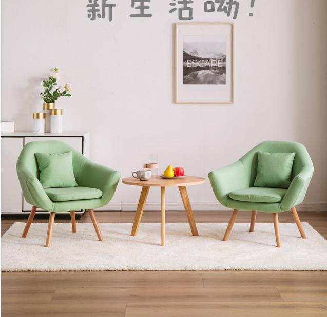 現代簡約陽台休閑椅小戶型臥室網紅款單人懶人沙發北歐小沙發椅子