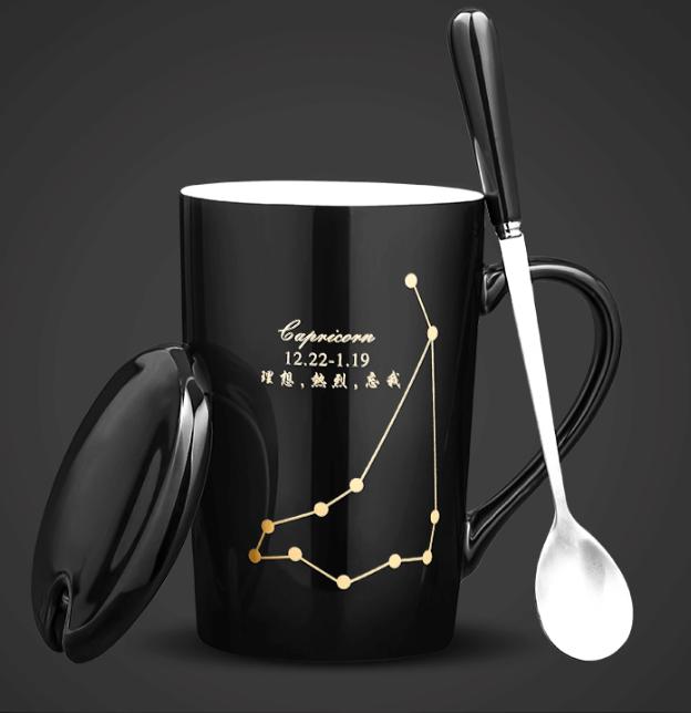 創意過濾泡茶杯子陶瓷個性潮流水杯家用辦公室馬克杯帶蓋勺咖啡杯