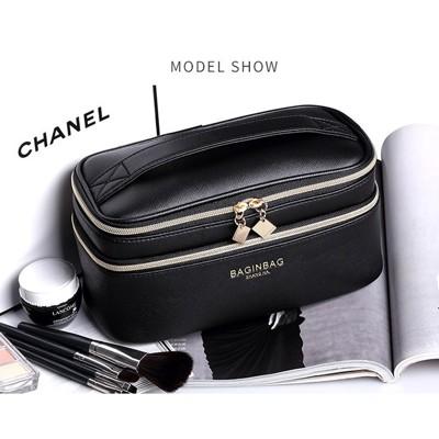 一件免運 雙層化妝包 pu皮高檔手提化妝箱 便攜旅行隨身化妝收納盒 化妝盒 化妝箱 大容量 多功能 (3.3折)