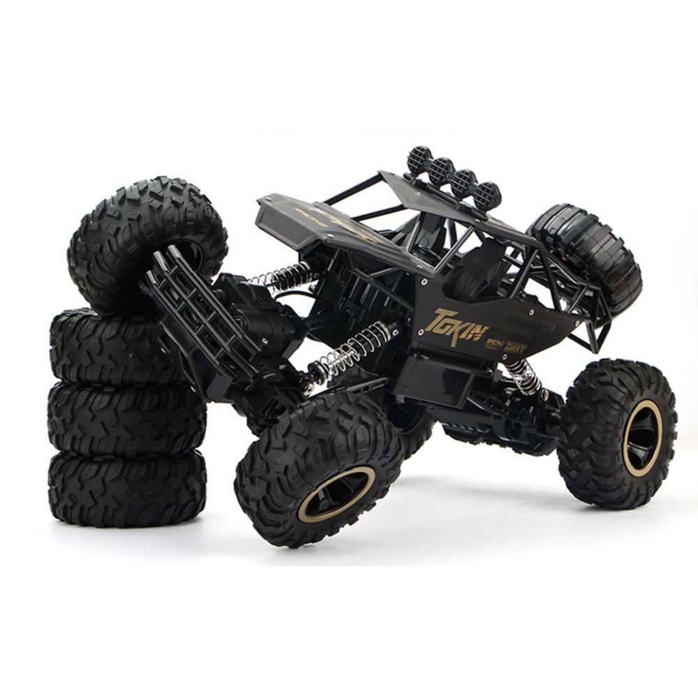 新款現貨合金版超大遙控越野車抗撞耐摔四驅充電高速攀爬大腳賽車兒童玩具汽車模型帶遙控壹件免運