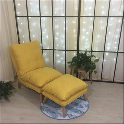 免運北歐風 懶人沙發 單人 臥室 迷你 小沙發床 創意 多功能 折疊 陽臺 躺椅 可拆洗 小戶型 (8折)