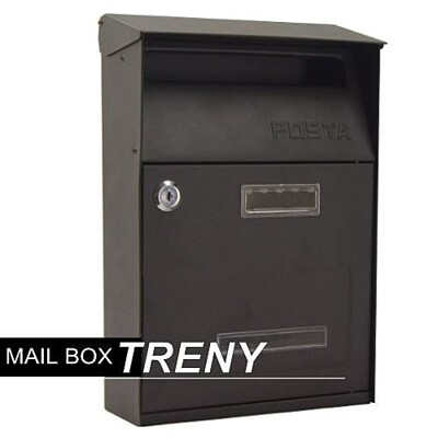 【TRENY直營】美式經典信箱 信箱 鑄鐵信箱 信件箱 意見箱 簡約 郵差箱 信件 7558 (10折)