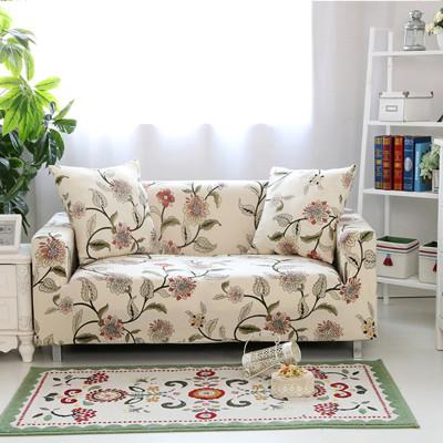 超柔時尚韻采彈性雙人沙發套-印花款 (7.2折)
