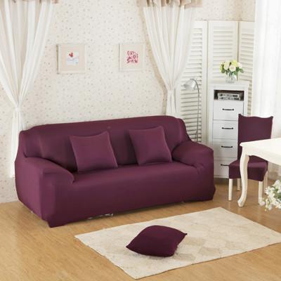 超柔時尚韻采彈性雙人沙發套-純色款 (7折)