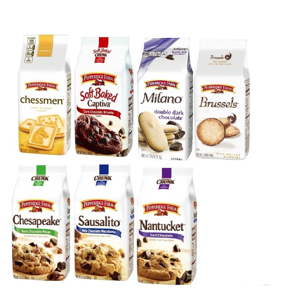 pepperidge farm 琣伯莉餅乾( 巧克力布朗尼軟餅乾/雙層巧克力米蘭/棋王奶油餅乾)7種