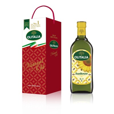 Olitalia 奧利塔頂級葵花油禮盒(1000mlx1瓶) (6.5折)
