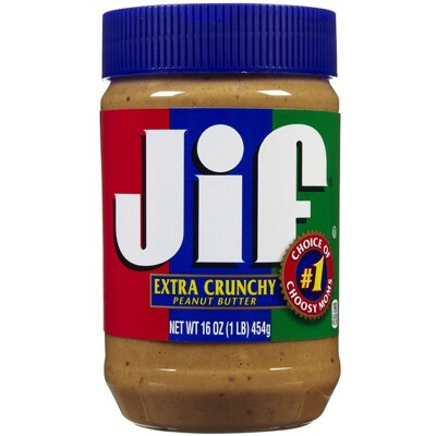 美國jif 顆粒花生醬454g/瓶 (8.8折)
