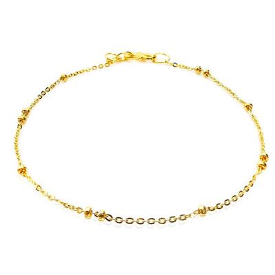 卡蘿珠寶 999足金黃金 秀氣黃金珠鏈 (7.9折)