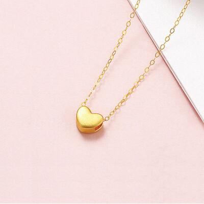 卡蘿珠寶 999足金黃金 經典愛心項鍊 (2.7折)
