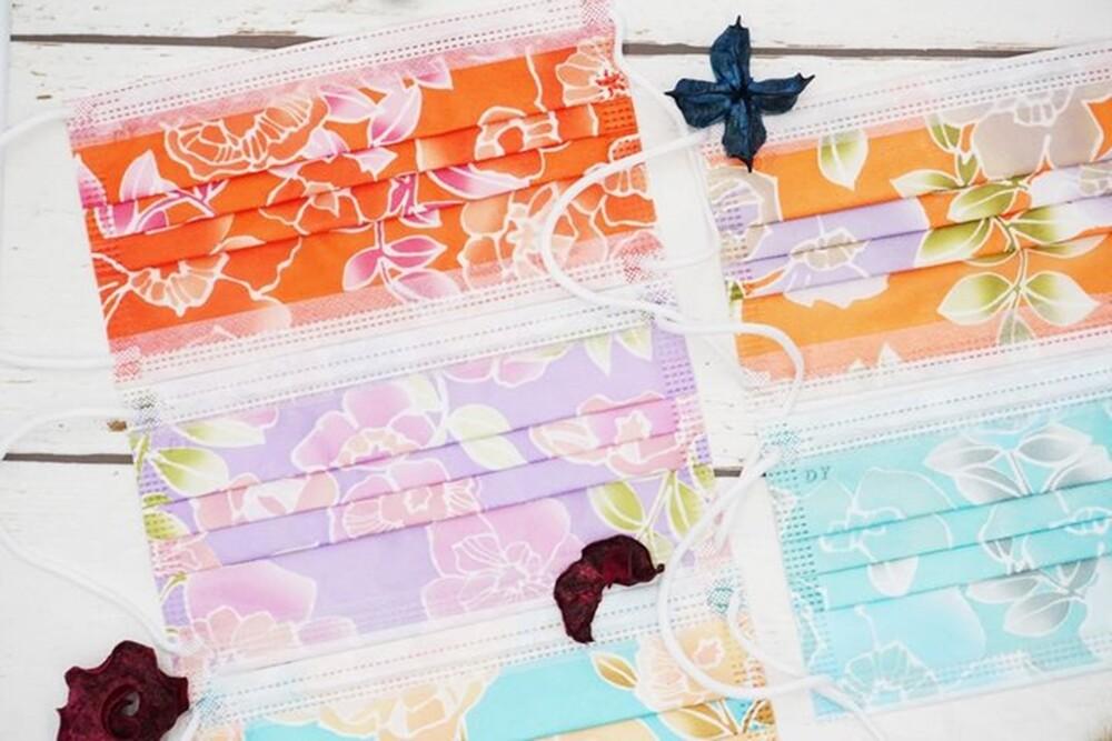 春漾花語 彩色口罩台灣製造非雙鋼印成人三層防護口罩20片/盒 cns14774檢測過濾率99.