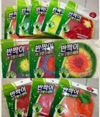 韓國原裝絲光纖維菜瓜布超細纖維環保菜瓜布 玫瑰鍋專用 (4.1折)