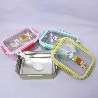*LUCY 日韓生活館* 可愛角落生物 不锈鋼304單層不鏽鋼分層密封 餐盒 便當盒(方型) (7.2折)