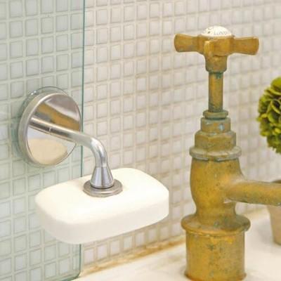 日本 時尚設計 磁吸式香皂架 不沾黏 磁鐵 香皂架 (5.6折)