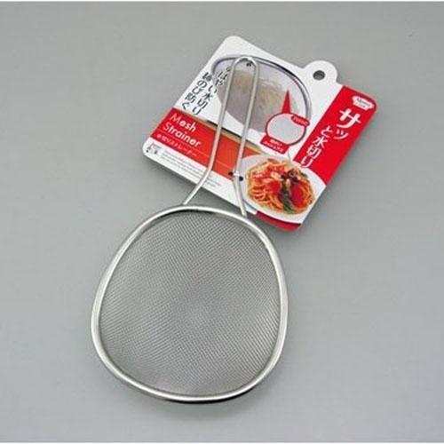 日本製 不鏽鋼18-8淺型網 多用途濾網勺
