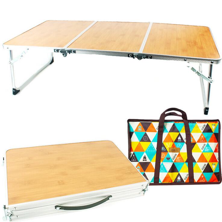 戶外折疊桌90x41x25<贈收納袋> 野餐燒烤竹木竹板桌露營便攜手提桌 野餐桌 露營桌