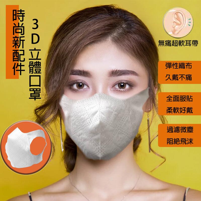 當日最殺一體成形200%延展性口罩 高防護3d口罩(s,l號)