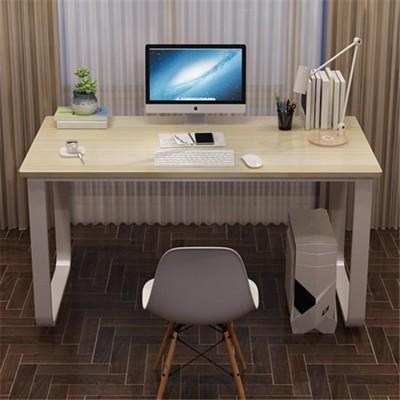 ~電腦桌臺式家用寫字桌簡約現代鋼木辦公桌雙人桌臥室簡易桌學習桌 - 100*60*74 (6.3折)