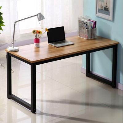 ~簡易電腦桌鋼木書桌時尚簡約雙人辦公桌臺式家用寫字臺 - 長140*寬50*高74 (6.3折)