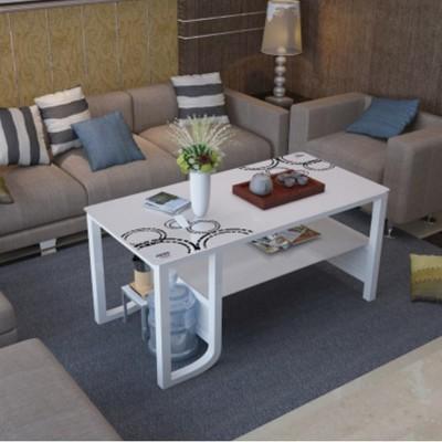 ~茶幾簡約現代鋼化玻璃小戶型客廳簡約茶幾辦公室創意簡易茶藝桌 - 140*60*50(下標請備註款式 (6.2折)
