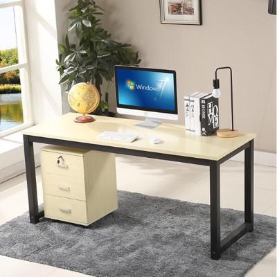 ~簡易臺式電腦桌臥室家用書桌簡約現代經濟型雙人辦公桌寫字臺 - 長140*寬50*高74 (6.2折)