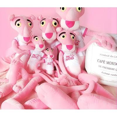 ~粉紅豹毛絨玩具可愛達浪粉紅頑皮豹公仔娃娃韓國睡覺抱枕女孩少女 - 80cm【送髮帶】 (6.2折)
