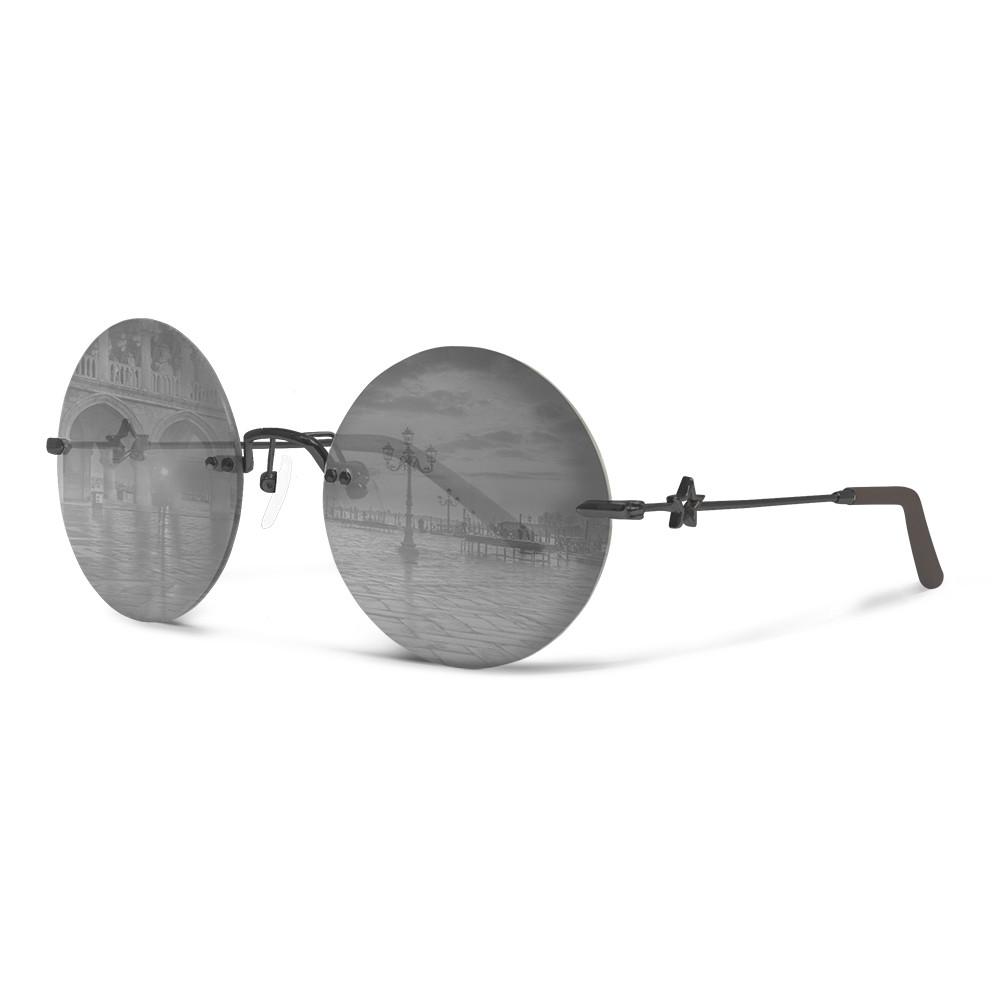 意大利珠寶siraya 太陽眼鏡 圓框  小臉 水銀鏡片 德國蔡司 意大利製造 solo