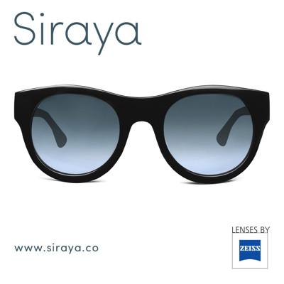 【Siraya 西拉雅傳奇眼鏡】SOTA 黑 嬉皮英倫時尚復古圓形 ZEISS 蔡司鏡片 太陽眼鏡 (8.1折)