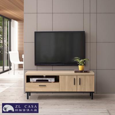 三年保固 amanda 橡木簡約 120公分 電視櫃 木心板 免組裝大象傢俱 (8.3折)