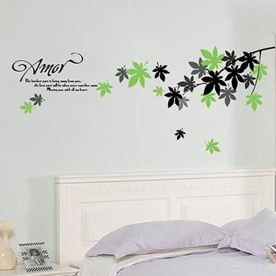 DIY壁貼 AY718 楓葉 50x70 (5.3折)
