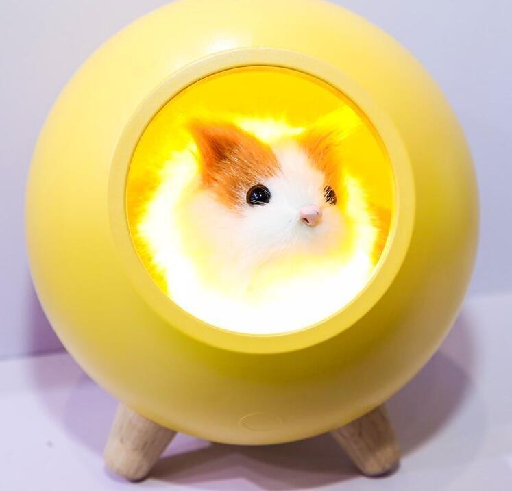 可愛倉鼠小夜燈觸控夜燈-暖黃色
