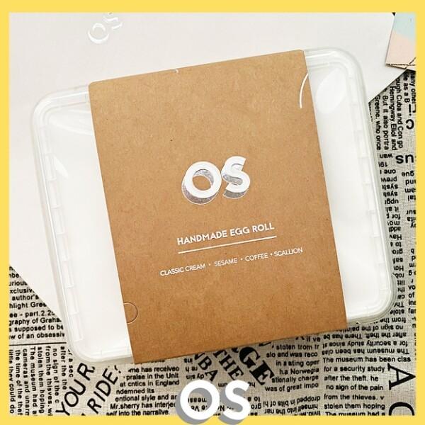 台中名產os 水滴蛋捲 文青盒 200g 千層手工蛋捲 原味/ 咖啡/ 芝麻/ 刺蔥
