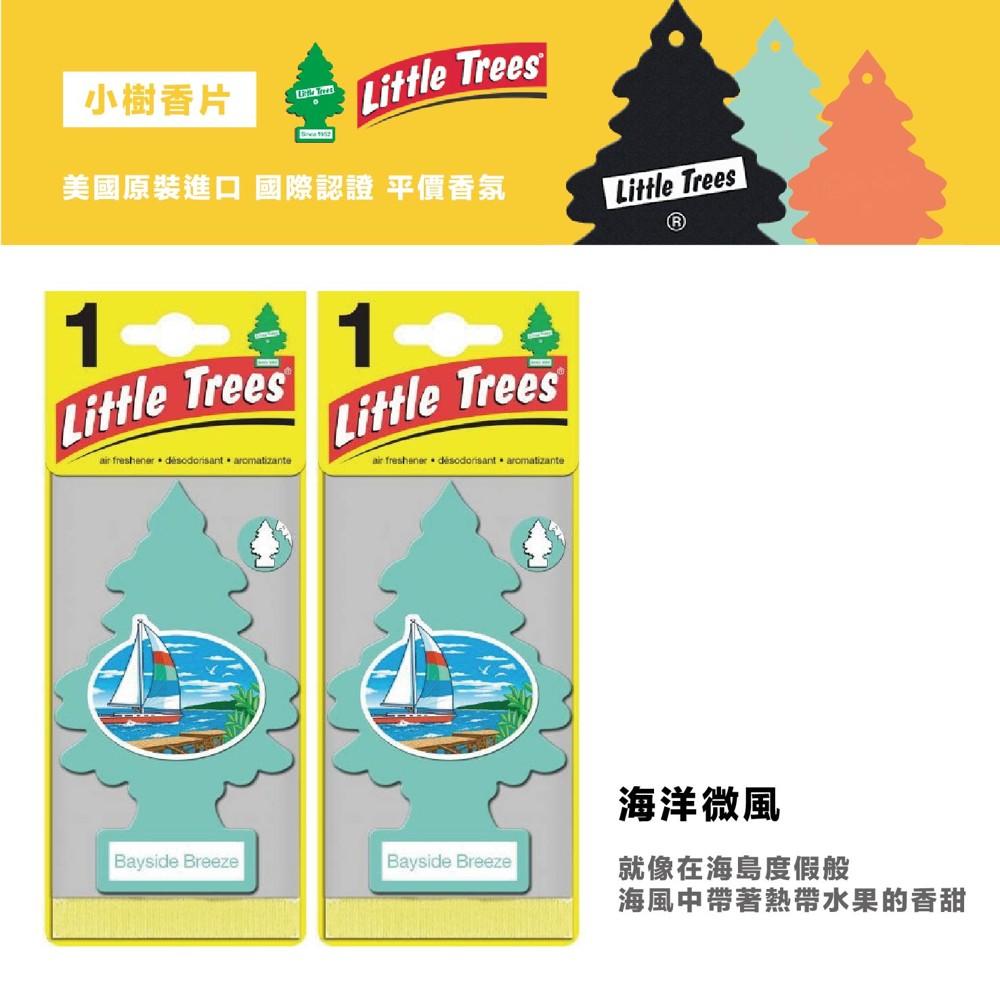 q-star全新上市 美國 little trees 小樹香片 香氛片 車用芳香吊飾(海洋微風)