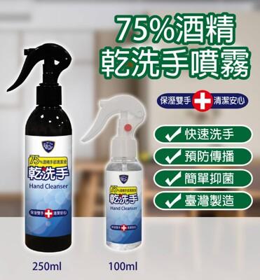 台灣製造75%酒精乾洗手噴霧隨身噴瓶100ML (3.4折)