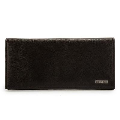 【真品保證】Calvin Klein CK荔枝紋皮革長夾禮盒(咖啡色)送禮禮物自用皆可 (4.9折)