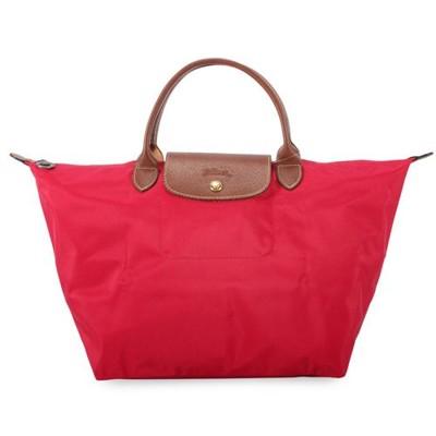 【真品保證】LONGCHAMP短提把兩用小型尼龍水餃包側背包斜背包手提包(紅色) (7.6折)