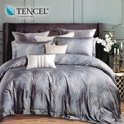 天絲床包 100%頂級天絲 萊賽爾加大雙人6x6.2尺 兩用被床包四件組 驪歌