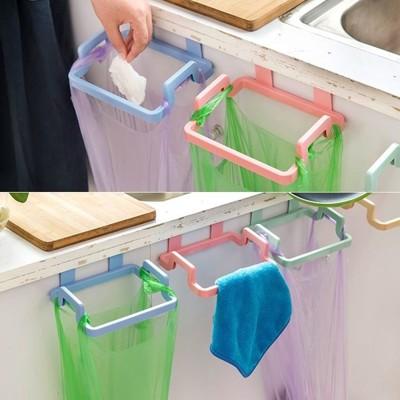 門背式 多功能掛架 垃圾袋 掛架 廚房 辦公室 垃圾桶 抹布 毛巾 浴室【RS531】 (1.5折)