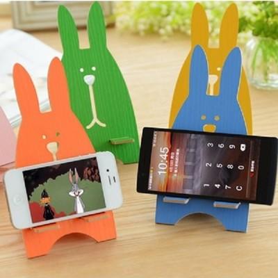 兔子造型 手機支架 平板 電腦 支撐架 懶人架 DIY 手機座 辦公桌收納 療癒小物 【AI311】 (1.3折)